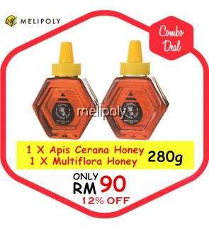 【Combo Deal】Melipoly Apis Cerana Honey & Multiflora Honey 280GM *SET