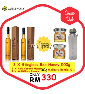 【Combo Deal】Melipoly Stingless Bee Honey 500GM *SET